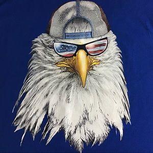 Other - Patriotic Bald Eagle Tee Shirt Sz 3XL Shirt Sleeve